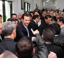 (فيديو) الأسد يظهر بعد ساعات من الضربة الغربية علي بلاده