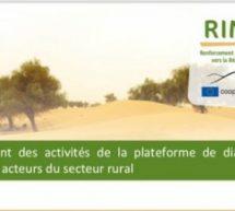 Lancement des activités de la plateforme de dialogue entre les acteurs du secteur rural
