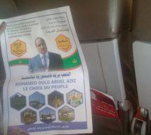 منشورات حملة المليون توقيع داخل إحدي الرحلات للخطوط الملكية المغربية
